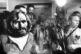 Serial Killer Charles Manson in  1969 During His Transfer in Los Angeles