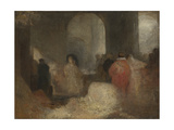 Dinner in a Great Room with Figures in Costume