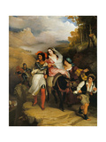 The Escape of Francesco Novello Di Carrara  with His Wife  from the Duke of Milan