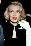 Marilyn Monroe with a Glass of Champagne  1955