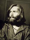 Serial Killer Charles Manson on December 3  1969 During His Arrest in Sharon Tate Affair