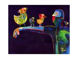Man Speaking with Birds Giclée par Susse Volander