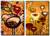 Raven Blossoms and Wildflower Dance Tableau multi toiles par Natasha Wescoat