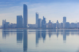 View of City Skyline Reflecting in Persian Gulf  Abu Dhabi  United Arab Emirates  Middle East