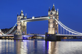 River Thames and Tower Bridge at Night  London  England  United Kingdom  Europe
