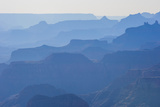 Backlight of the Cliffs of the Grand Canyonarizona  United States of America  North America