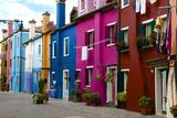 Fishermen's Colored Facade Houses  Burano  Venice  Veneto  Italy  Europe