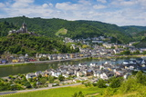 View over Cochem with its Castle  Moselle Valley  Rhineland-Palatinate  Germany  Europe