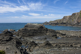 Rock Outcrops at Hartland Quay  North Cornwall  England  United Kingdom  Europe
