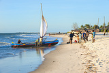Malagasy Fishermen Coming Back from a Fishing Trip  Morondava  Toliara Province  Madagascar  Africa