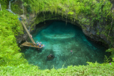 To Sua Ocean Trench in Upolu  Samoa  South Pacific  Pacific