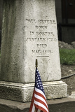 Memorial at Paul Revere's Grave in the Old Granary Burying Ground in Boston