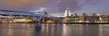 Millennium Bridge  St Paul's Cathedral and River Thames  London  England  United Kingdom  Europe
