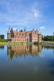 Pond in Front of Castle Egeskov  Denmark  Scandinavia  Europe