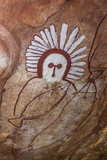Aboriginal Wandjina Cave Artwork in Sandstone Caves at Raft Point  Kimberley  Western Australia