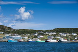 Little Fishing Boats in Marguerite Bay in St Anthony  Newfoundland  Canada  North America