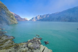 The Very Acid Ijen Crater Lake in the Ijen Volcano  Java  Indonesia  Southeast Asia  Asia