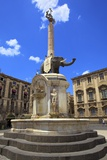 Elephant Fountain  Catania  Sicily  Italy  Europe
