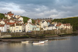 Harbour Wall and the Village of Staithes  North Yorkshire National Park  Yorkshire  England