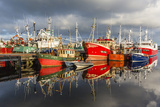 Sunset Reflected on the Commercial Fishing Fleet at Killybegs