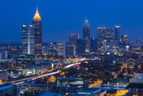 Elevated View over Interstate 85 Passing the Atlanta Skyline