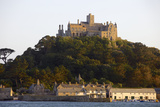 St Michaels Mount  Cut Off from Marazion at High Tide  Cornwall  England  United Kingdom  Europe