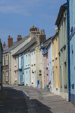 Original Terrace Houses Preserved Using Pastel Colours  Appledore  North Devon  England