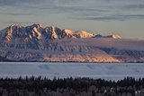Teton Range at First Light in the Winter