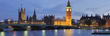 Big Ben and the Houses of Parliamentand Westminster Bridge over the River Thames  London  England