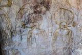 Aboriginal Wandjina Cave Artwork in Sandstone Caves at Bigge Island  Kimberley  Western Australia