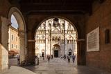 View of the Duomo Di Ferrara from Palazzo Municipale  Ferraraemilia-Romagna  Italy  Europe