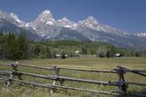 Ranch and Teton Range  Grand Teton National Park  Wyoming  United States of America  North America