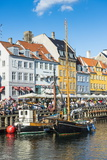 Fishing Boats in Nyhavn  17th Century Waterfront  Copernhagen  Denmark  Scandinavia  Europe