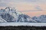 Mount Moran at Dawn in the Winter
