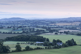 The View over the Blackmore Vale from Hambledon Hill in Dorset  England  United Kingdom  Europe