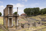 The Roman Theatre Dating from the 1st Century  Volterra  Tuscany  Italy  Europe