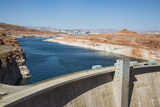 Glen Canyon Dam on the Colorado River in Northern Arizona with Lake Powell in the Background