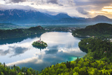 Lake Bled Island and the Julian Alps at Sunrise