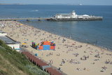 The Beach and Pier at Bournemouth  Dorset  England  United Kingdom  Europe