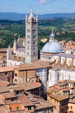 View of Duomo from Torre Del Mangia  UNESCO World Heritage Site  Siena  Tuscany  Italy  Europe