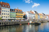 Fishing Boats in Nyhavn  17th Century Waterfront  Copenhagen  Denmark  Scandinavia  Europe