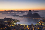 View of Sugarloaf Mountain and Botafogo Bay at Dawn  Rio De Janeiro  Brazil  South America