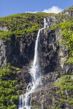 Ice Melt Waterfall on the Olden River as it Flows Along Briksdalen