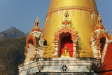 Buddhist Temple and Doi Chiang Dao  Chiang Dao  Chiang Mai Province  Thailand  Southeast Asia  Asia