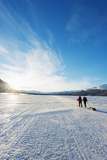 Ski Touring on Kungsleden (The Kings Trail) Frozen Lake