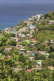 Hillside Village by the Sea  St Lucia  Windward Islands  West Indies  Caribbean  Central America