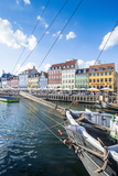 Fishing Boats in Nyhavn  17th Century Waterfront  Copenhagen  Denmark  Scandinavia  Europe