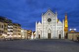 Santa Croce Church at Night  Piazza Santa Croce  Florencetuscany  Italy  Europe
