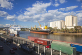 Container Ship in Puerto Don Diago  Santo Domingo  Dominican Republic  West Indies  Caribbean