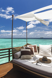 Sofa Overlooking Ocean  Maldives  Indian Ocean  Asia